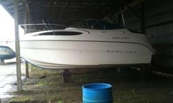 24? Bayliner Sunbridge 245   Super clean, pristine condition.  No mechanical problems.  Fully outfitted and ready to go.  Approximately 85 hours.  Now registered in Canada.   No trailer.  Previous lake boat, and since has been in dry storage.  Price