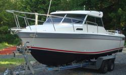 1990 24 foot Monaro EX with Highliner tandem axle galvanized trailer. Tuned up and ready to go for the boating season. Maintenance all done and ready to fish, cruise, or whatever you choose. Very clean and well maintained, this boat is in great shape and