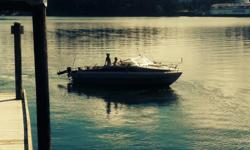 1973 Bayliner with a 350v8 Chevrolet vortec engine. Carbureted with fresh water cooling system recently upgraded with thru hull intake and sea strainer. Volvo 290 Leg. Has a full canvas top that needs repair. Recent bottom scrub and paint. Interior is