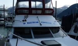 1987 25'Bayliner w/command bridge. Sleeps 4. Less than 10 hrs on rebuilt Volvo engine. Includes Radar, 10hp outboard, fish finder, downriggers and more. Moored in Skagway Harbour. $14,500.