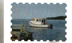 """Price Reduced by $1000 - Now only $2900 25' Cape Island boat with solid fiberglass hull. Completely rebuilt in 2009-2010 when the new cabin and interior was completed. I am selling this boat """"As-Where is"""" because it sunk at the mooring this October and it"""
