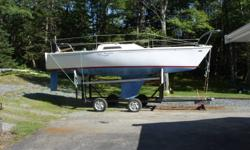 Price includes 2 axle trailer newly built. Not registered. 1 Main sail, Jib, 3 Spinnakers. Excellent condition, as new. Older set of sails included as well. good condition. Has toilet...Sailboat requires nothing....just a new owner... Call 902-354-3729 or