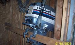 Evinrude boat motor 25hp great working condition. $1000.