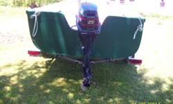 1998 25hp Evinrude , long shaft, tiller handle.Works great.