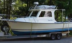 Excellent Fishing Boat: built with heavy fiberglass construction in1999, and last surveyed in June 2016. Very capable in rough water! This boat is in very good condition thru-out, including the Cummins 5.9 Turbo Diesel engine with low hours. Its' 220