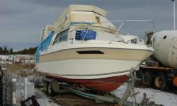 Command bridge, separate head, sleeps 4 comfortably, boat is very sound. Brand new $ 7,000.00 Volvo 280 leg. Full camper canvas, canvas and exhaust manifolds need replacing. Good galvanized trailer. Many extras included, priced to sell...
