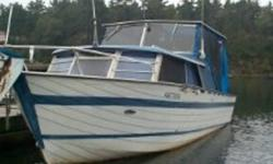 26 ft Aluminum Cabin Cruiser 2 x 105 hp Chrysler outboard motors completely overhauled, comes with spare parts Sleeps 4-6 persons VHF radio Comes with trailer Boat, trailer and motors were purchased as a unit from Chrysler Only 2 owners Estate sale
