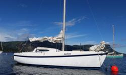 Have a beautiful Columbia Mark 2 for sale. This is a great sailing vessel for the beginner to the intermediate. Five sails main,genoa, jib, storm jib,and spinnaker. Has a great 9.9 Yamaha outboard starts first time ,electric start and generator one of the