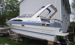 very good boat, strong chev 350, good transom and out drive. sleeps 6, bathroom, shower, fridge, stove and so on...many folks in the know say this boat is worth $9000-12.500.. carpet definatley needs cleaning down below. giving this boat away for $3000.