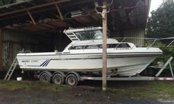 Just the boat for sale not the trailer, can deliver if needed. Newer 454, new manifolds & risers are 6 months old. Mechanically sound, but ugly could use some tlc. Comes with 2 9.9 Yamaha kickers, Garmin sounder, Garmin gps, VHF, wash down, Scotty swivel