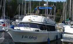 Great family boat. Command bridge, large galley/dining area, spacious sleeping area, sleeps up to 6, bathroom with shower, twin 3.8L GMC V6 engines, 280 Volvo legs, radar, depth sounder, winch, radios, bimini etc. Well maintained inside and out, file