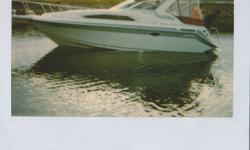 Original owner, this Cadorette Holiday 280 is well maintained and priced to sell.  Includes the EZ load trailer along with many extras.   This cruiser has a spacious open concept with carpet throughout.  There is a large forward berth, dinette which