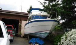 Looking to seel my 1979- 28 foot executive motorboat.Reason for selling is I no longer live in Comox,BC. where boat is being stored. Need engine work. Twin 305 ho twin Volvo penta outdrives...$4500.00 OBO. Please call cell instead of emailing.