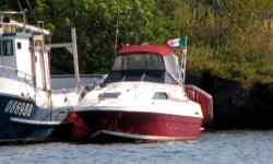 28 ft Bayliner 2750 Victoria Cabin Cruiser. Includes: full instruments, Mercruiser 260HP, Bombard 8' inflatable tender, 5HP tender OB motor, bow thruster, heavy duty tri-axle trailer, 12v/110v fridge with freezer, four burner propane range with oven,