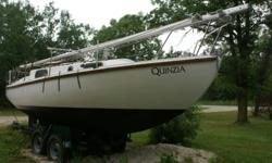 English built - 1969, double bilge keels, 42? draft, true coastal cruiser. Heavy rigging, strong fibreglass hull, Volvo-Penta Diesel engine, full newer sail inventory, large v-berth, standing headroom, sleeps 5, enclosed head, galley with sink & alcohol