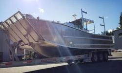 Hull only for sale. Pick your Cabin design or Console ISLANDER 300W (Hull Only) The Islander 300W is a versatile landing barge perfect for the Westcoast waves. The 17deg deadrise provides efficient wave cutting and displacement while the wide chines
