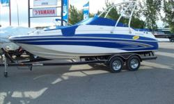 Glatsron deck boat series, the DX 215. Big socialble boat.Has a bathroom, and lots of storage. We got good discount from Glastron as these boats were used for photos and display! We have 2 . One with single prop, and one with dual prop.