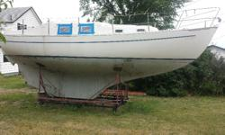 I HAVE A NORDICA 30 SAILBOAT WITH NO TRAILER. THIS BOAT IS A RESTORATION PROJECT AND WOULD LIKE TO GIVE IT AWAY FOR FREE TO THE FIRST PERSON THAT COMES AND GETS IT. THERE IS A MAST...SAILS...RIGGING...TILLER...VOLVO 17HP ENGINE APART. THE INTERIOR IS