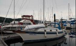 GREAT VALUE & TRADITIONAL APPEARANCE.This 32 Bayfield has had only two owners. The Current owner has sailed her since 2002. Designed in Ontario as a very seaworthy cruiser, the Bayfield has a good interior layout, LED lighting throughout, sleeps 5 and is