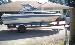 ( NOT COMMERCIAL )...THE DEAL FELL THRU ... THIS 20'8 BOAT COMES ORIGINALLY FROM LAKE ST. CLAIR , LAKE ERIE , ONTARIO. HAS A 4.3 OMC THAT RUNS GREAT . RECENTLY REPLACED THE GIMBAL HOUSING AND PROP . NEW 90W LEG OIL . HAS VHF , DEPTH SOUNDER , COMPASS ,