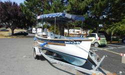"Canadian Transport Canada Registered electric boat -A Duffy boat made under the trade name ""Shock."" This boat was the harbour ferry in Ganges Harbour, Saltspring for years. 38 Volt Electric DC motor powered...belt drive to shaft. Boat needs love and"