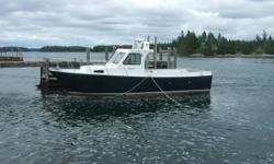 Built by: LeBlanc Brothers Construction Ltd. Breadth: 12 Ft. Top Speed: 24 Cruise Speed: 18 Engine: 430 HP, 6 Cylinder Cummins Diesel Capabilities: Fuel (200 Gallons of Diesel) Accommodations: 2 berths 1 cabin Washroom Electronics: Sounder (Uniden) VHF :