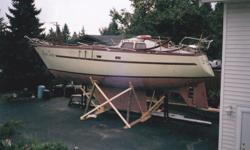 Fibreglass hull Price is $7,999 for hull and deck $11,5000 which includes hull and most materials to complete as follows: new fridge new propane 3 burner stove, with oven new composting toilet new diesel tank 2 new water tanks 2 new steering stations