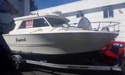 One of a kind 20' Double Eagle in immaculate condition, rigged for fishing with all of the amenities for a weekend away as well. Package includes: 2015 Mercruiser 4.5L 250hp engine 2015 Mercury 9.9hp Pro kicker 2014 Roadrunner trailer Raymarine