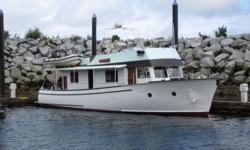 """One 1953 Hoffar coastal cruiser, 45' AWL. Hull is red cedar; deck is yellow cedar, both in very good condition with no wood rot. The entire vessel is in good condition and runs well. The boat comes with a 653 Detroit diesel that burns 3 gph at 8 kn, a 9"""""""