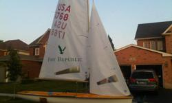 """Complete, ready to sail 470 International Olimpic Sailboat. Built in 1972, in great condition. """"North Sails"""" are almost brand new. Comes with trailer. Located at Conestoga Lake. $3000 or make an offer."""