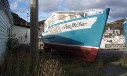 For Sale 50 ft cabin cruiser, fiberglass over wood, 157 horsepower Volvo Diesel engine, lots of extras, new cabin not finished on the inside, ideal for the handyman. For more info please call 834-0602. Make me an offer!