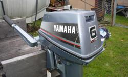 This is a clean well cared for 1986 Yamaha 2-stroke 6hp short shaft that is a rare salt water model with the charging coil. It comes with a brand new 12L fuel tank and extended hose with pump, and new break-away cord, also has the factory tool kit for