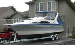 "89 Bayliner 2655 Ciera. This one is the best bang for your buck. Cheapest cottage you can buy! Very good layout on this boat. 29'LOA.9'6""Beam. Interior is huge for this size of boat. New windows and screens on canvas, also interior reupholstered 2011."