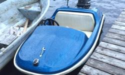 This is a mini boat motor has very low hours and runs great witch is a 30 hp comes with trailer with papers very rare boat don't see these very offen 2000 firm takes it