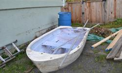 8 ft sail boat..fiberglass..needs TLC..has been leaning outdoors ..has mast & sail was stored indoors. Good for single or 2 adults...located in Ladysmith. $250 OBO