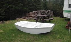 Pond Boat. 8ft in color, 51 inches in middle. Lightweight, great for trouting, easy to manuver. White in color. Calls only please.