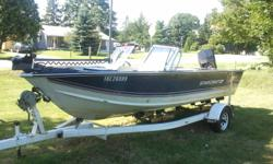 This boat is all set up for Fisherman comes with a MinnKota electric trolling motor, Two batteries, two fuel tanks, full pop up cover, travel cover, a tape player and two live wells. I don't have time to use it. I live near a lake so you can take it for a