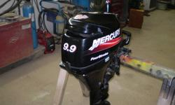 9.9 4 stroke merc for sale possible 50 hr on motor reason for selling to heavy