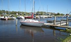 This Abbott 22 is in great shape and well looked after. Sails beautifully. Very seaworthy and stable. Rigged with all lines leading aft to the cockpit for easy single-handing. This boat needs nothing. Located at Silver Harbor, Arnes, MB (slip included for