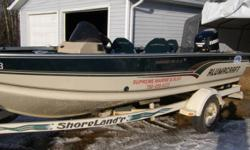 "Alumacraft 175 Tournament pro cs. This boat is similar to the Lund Pro V. It measures 17'11 inches with an 88"" beam. The main engine is a 2010 150 hp. Evinrude E-tec with warranty till 2014.  The package includes everything you need for all your fishing"