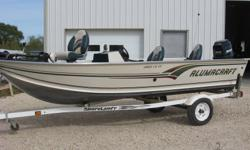 16' side console with 93 oil injected 40 Mercury. Fully equipped & water ready. Fish finders, trolling motor, & cover. Located just west of Wpg. Email or call 204-864-2274. Can be viewed & ran indoors. Includes winterizing, shrink wrapping & storage if