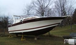 28' Aft-cabin Aluminum Boat.  Copy of a Bayliner 28' Ciera.  Very rare boat, all welded aluminum.  Neat project with lots of potential.  Would cost $50,000-$60,000 to build this hull & deck.  Needs 165 H.P. Merc Engines & two drives.  Can be viewed but