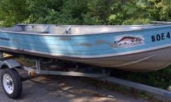 I got a few aluminum boats for sale 1990's 14 feet Springbok aluminum boat, rated for a max of 13 hp motor and 380 kg capacity. No leaks. $450 b(first one) 12' Aluminum, fair shape, $250 (second one pictured) 11' Aluminum boat, no leaks, good little boat,