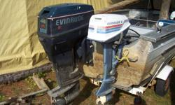 15' Starcraft aluminum boat complete with 48 Special Evinrude outboard and 6 H.P. Evinrude trolling motor and trailer.