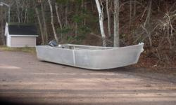 Aluminum Boat 18ft long 8 ft wide . Double floored airtight,with  drains at stern, washboards airtight, very sturdy boat. Sails clean unsinkable. 30  hp yamaha motor . Would be suitable for mussel farming , silversiding. Also would make a great pleasure
