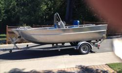 Seventeen and a half foot aluminum boat with an eight foot beam, built in 2011 by Nordel boats . A 2014 yamaha f 115 with around 100 hours,2 batteries with switch, Lowrance elite 5,2 fuel tanks one aluminum and one polyethylene,seastar hydraulic steering,