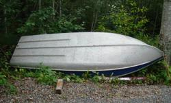 Sears aluninum 14 foot boat in really good condition not a deep hull but not a shallow one either.This boat is very light.