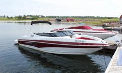 Brand New Demo with only 11hrs, 23' including swim platform.    Only $36,900 FIRM! MSRP is around $52000 dollars!  Turn heads wherever you go!  Loaded with a Mercruiser 350MPI Mag matched with a Bravo III outdrive ( Twin Stainless Props), this boat will
