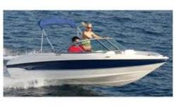 """2010 Bayliner 175 with trailer only 100 hours use. All safety Equipment Depth & Fish Finder, Portable Marine Radio included Boat Cover and Bimini Top Included Length: 17' 6"""" 5.33 m Beam: 6' 11"""" 2.11 m Draft: 2' 10"""" 86.4 cm Deadrise: 19 Degrees Dry weight:"""