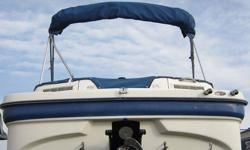 Great boat at a great price!   Side-mount engine control with trim and tilt switch in handle Integrated transom platform with retractable 3-step ladder Lifetime limited structural hull warranty, transferable Portable head Patented three-position